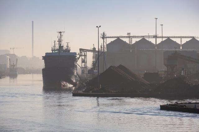 Shoreham harbour at dawn. Sussex