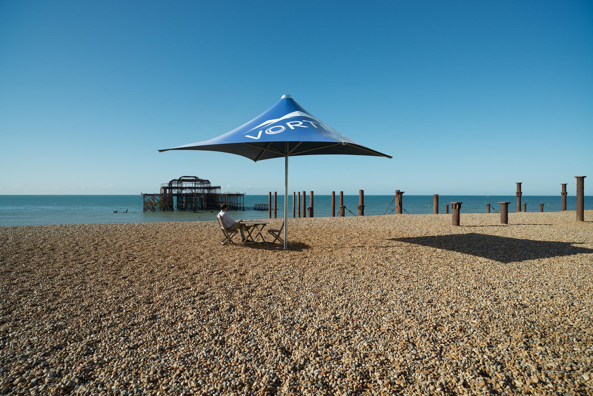 Global Parasols Vortex on Brighton Beach