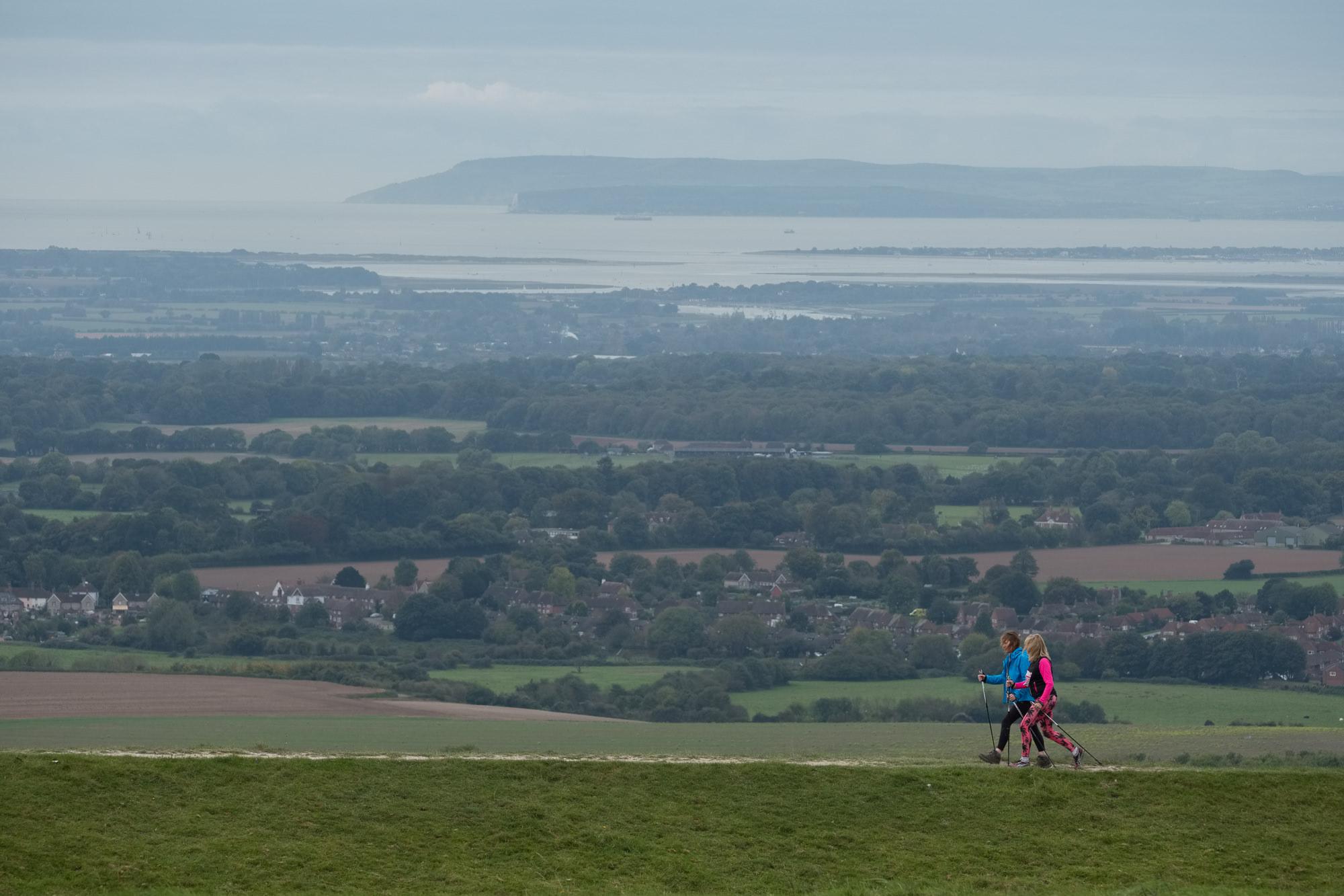 Nordic walking ½ marathon. The Trundle, Chichester