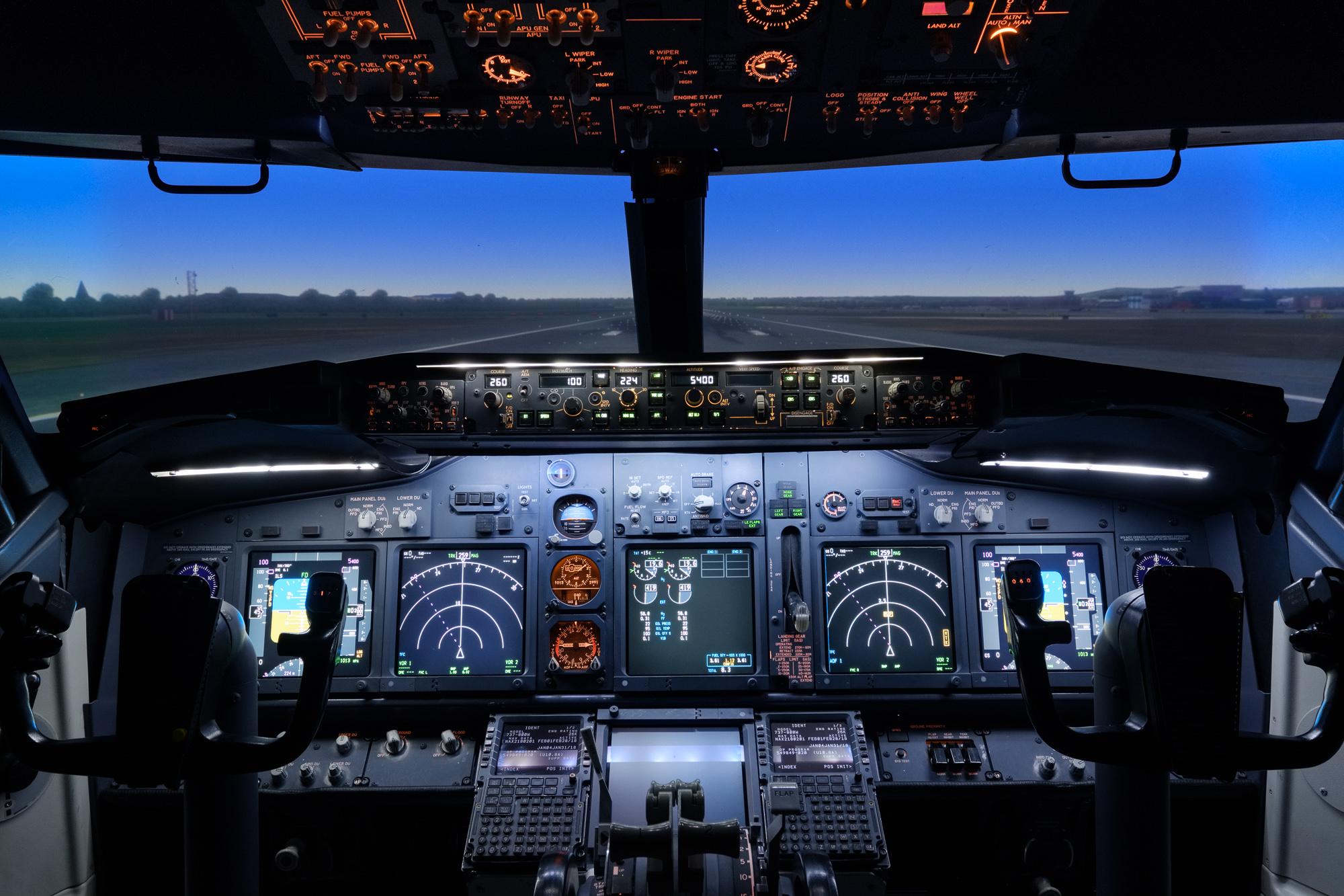 Quadrant Systems simulator flight deck